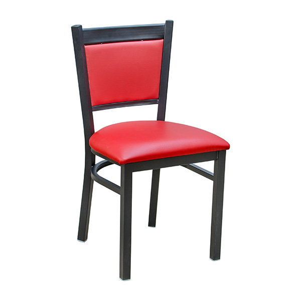 Tux Metal Chair Red Vinyl Barn Furniture