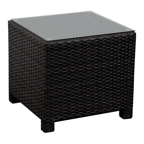 20 X 20 Square Wicker Coffee Table Drw4001et