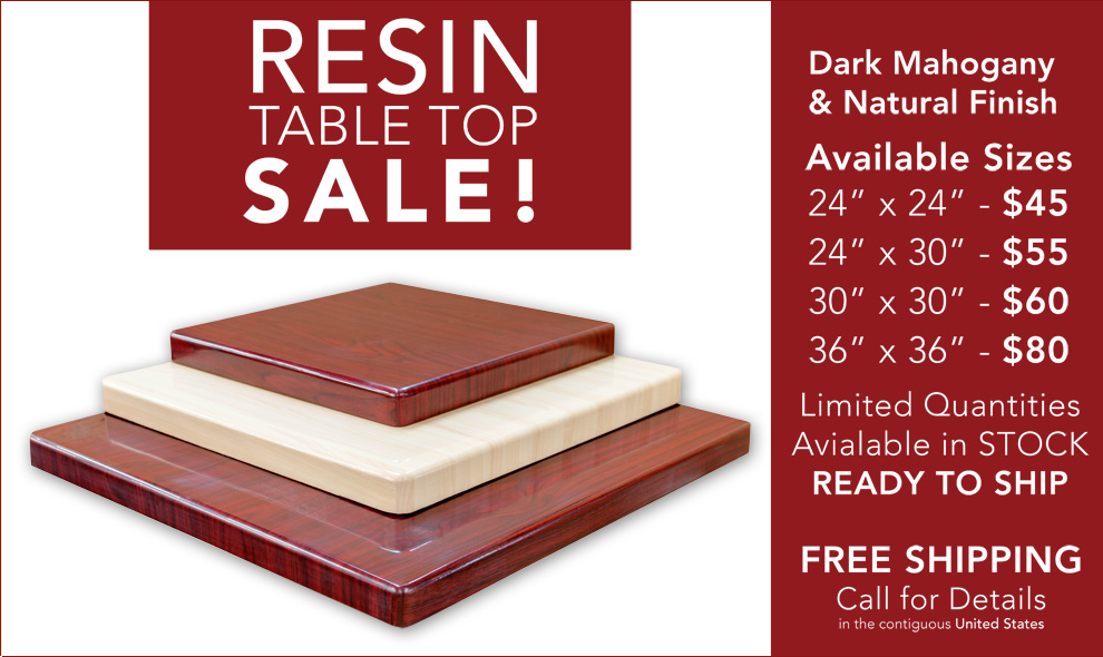 Resin Table Tops Sale