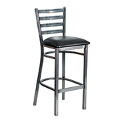 Ladder Back Barstool - Gun Metal