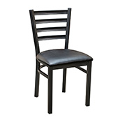 Ladder Back Metal Chair - Black