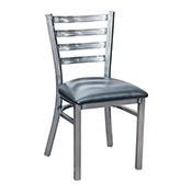 Ladder Back Metal Chair - Gun Metal