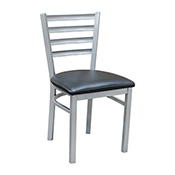 Ladder Back Metal Chair - Silver