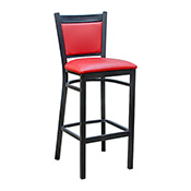 Tux Metal Barstool - Red Vinyl