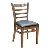 Ladder Back Side Chair - Walnut