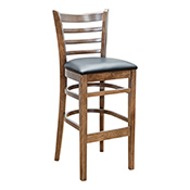 Ladder Back Barstool - Walnut