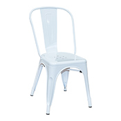 Pari's Metal Chair - White