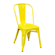 Pari's Metal Chair - Yellow