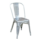 Pari's Metal Chair - Gun Metal