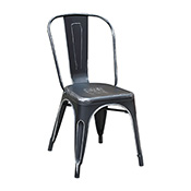 Pari's Metal Chair - Antique Black