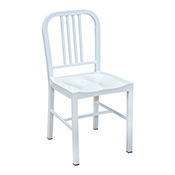 Navy Chair - White