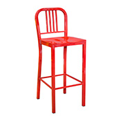 Steel Coffee House Barstool - Red