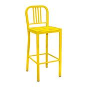 Steel Coffee House Barstool - Yellow