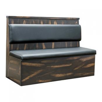 Pine Wood Booth - Vintage Black Finish