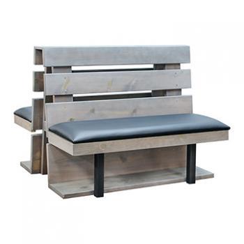 Pine Slat Double Booth