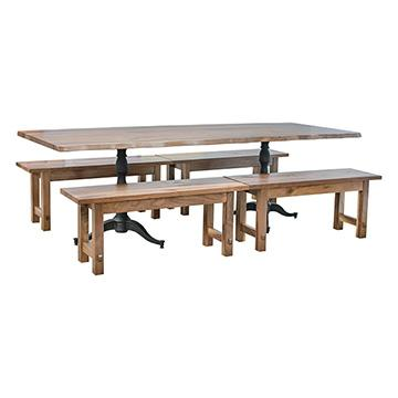 Live Edge Walnut Table w/ Benches