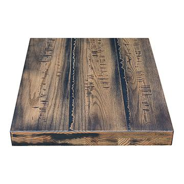 Rustic Oak Table Top - Antique Black Finish
