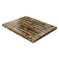 Rustic Pine Table Top - Antique Brown
