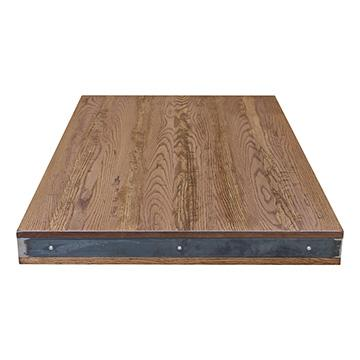 Rustic Oak Table Top with Metal