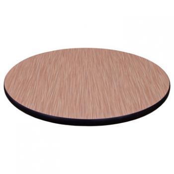 Round Laminate Table Top - Bumper Edge