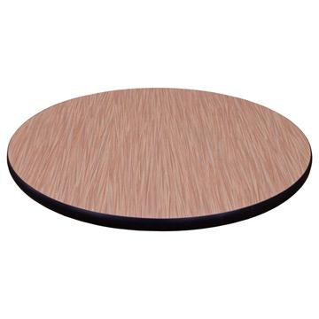 Round Laminate Table Top - Bumper Edge