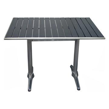 Rectangular Wood Panel Top Table