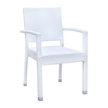Brunswick Arm Chair - White