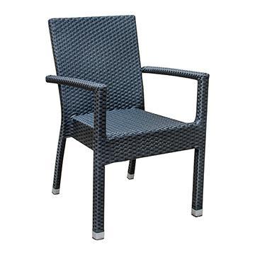Brunswick Arm Chair - Black