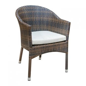 Rattan Arm Chair w/ Cushion