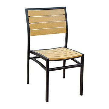 Miami Patio Side Chair - Black