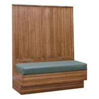 Oak Mission Slat Back Booth