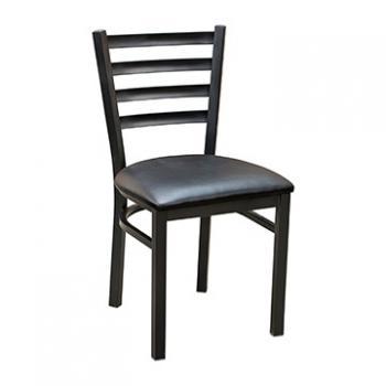 Ladder Back Metal Chair - Black