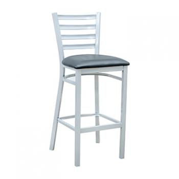 Ladder Back Barstool - Silver