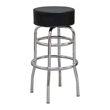 Upholstered Chrome Barstool