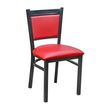 Tux Metal Chair - Red Vinyl