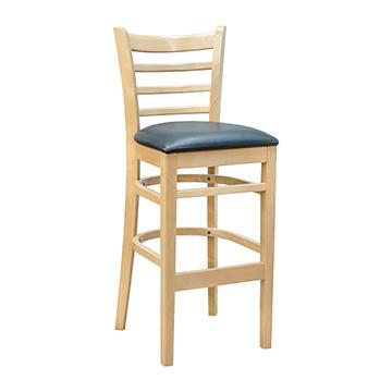 Ladder Back Bar Stool - Natural