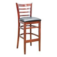 Ladder Back Barstool - Mahogany