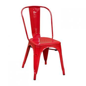 Pari's Metal Chair - Red