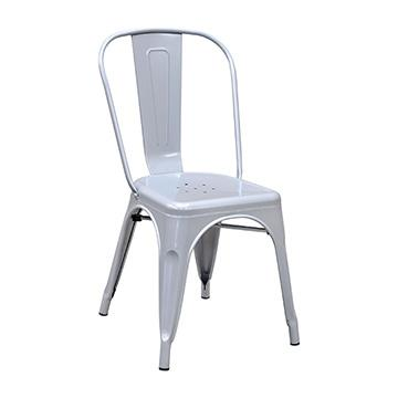 Pari's Metal Chair - Silver