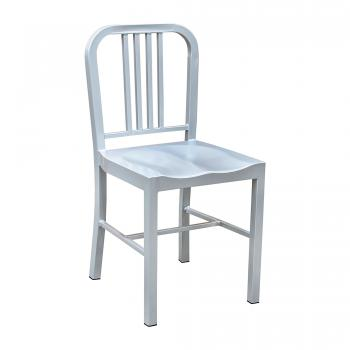 Navy Chair - Silver
