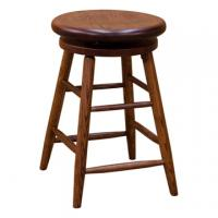 Oak Swivel Barstool - Cherry