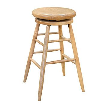 Oak Swivel Barstool - Light