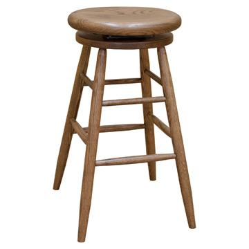 Oak Swivel Barstool - Medium