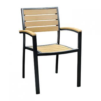 Miami Patio Arm Chair - Black