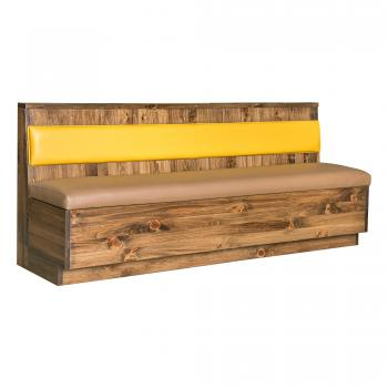 Rustic Pine Wood Booth