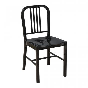 Steel Coffee House Chair - Black
