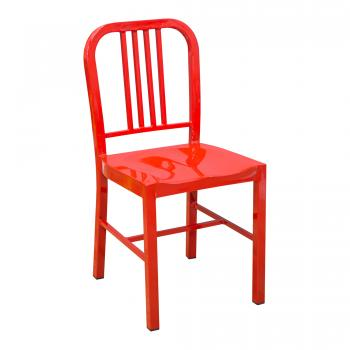 steel coffee house Chair - Red