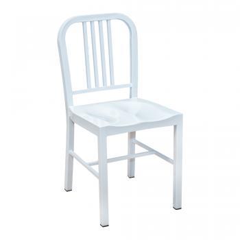Steel Coffee House Chair - White